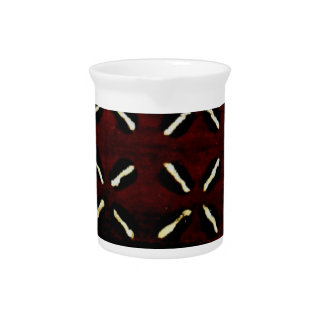 African mud cloth print pitcher
