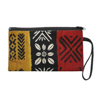African Mud Cloth Print wristlet
