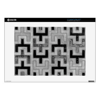 """African Mudcloth Textile with Geometric Patterns Decal For 15"""" Laptop"""