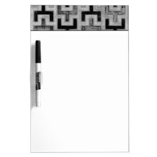 African Mudcloth Textile with Geometric Patterns Dry-Erase Whiteboard
