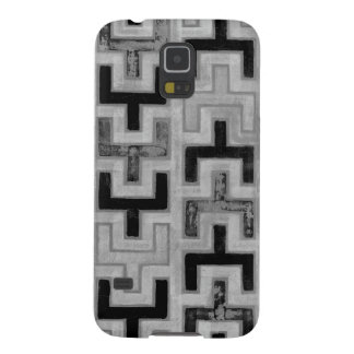 African Mudcloth Textile with Geometric Patterns Galaxy S5 Covers