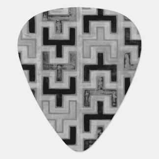 African Mudcloth Textile with Geometric Patterns Guitar Pick
