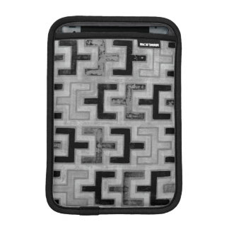 African Mudcloth Textile with Geometric Patterns iPad Mini Sleeves