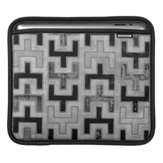 African Mudcloth Textile with Geometric Patterns iPad Sleeve