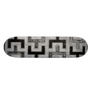 African Mudcloth Textile with Geometric Patterns Skateboard Deck