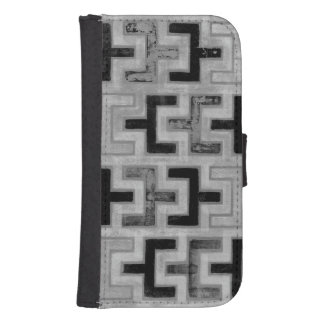 African Mudcloth Textile with Geometric Patterns Wallet Phone Case For Samsung Galaxy S4