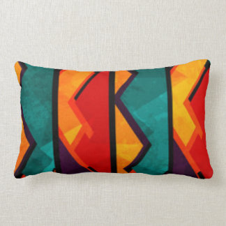 African Multi Colored Pattern Print Design Lumbar Pillow