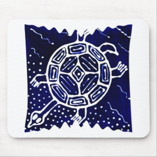 African mythical icon, turtle mouse pad