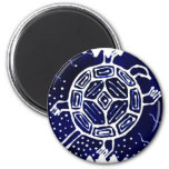 African mythical icon, turtle refrigerator magnets