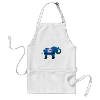 African Night with Elephant 2 Adult Apron
