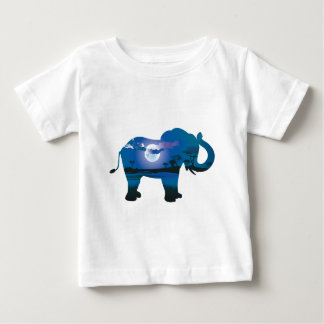 African Night with Elephant 2 Baby T-Shirt