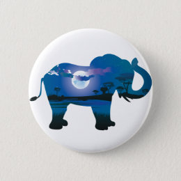 African Night with Elephant 2 Button