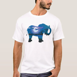 African Night with Elephant 2 T-Shirt