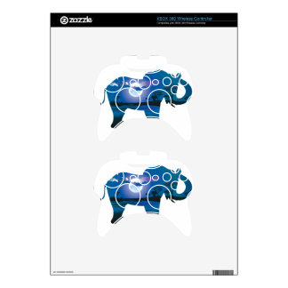 African Night with Elephant 2 Xbox 360 Controller Skin