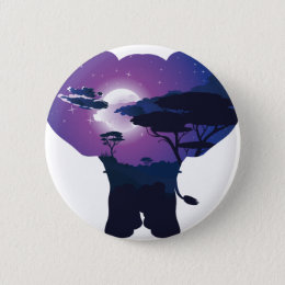 African Night with Elephant 3 Button