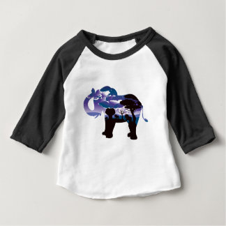 African Night with Elephant 5 Baby T-Shirt