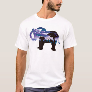 African Night with Elephant 5 T-Shirt