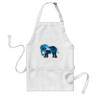 African Night with Elephant 6 Adult Apron