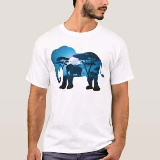 African Night with Elephant 6 T-Shirt