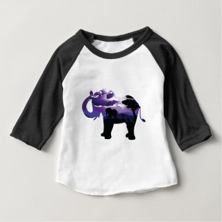 African Night with Elephant Baby T-Shirt