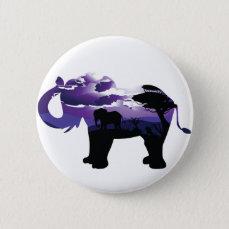 African Night with Elephant Button