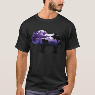 African Night with Elephant T-Shirt