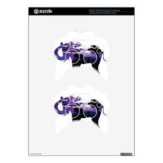 African Night with Elephant Xbox 360 Controller Decal