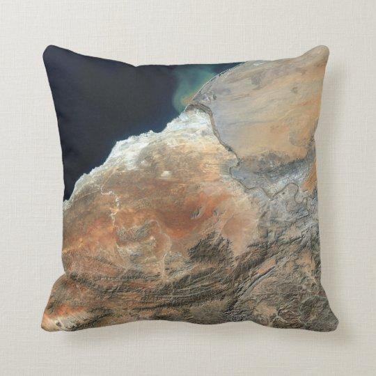 African Orange River Throw Pillow