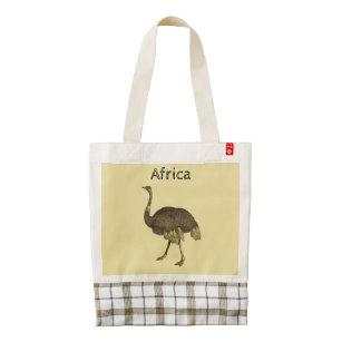 African Ostrich Custom Zazzle HEART Tote Bag