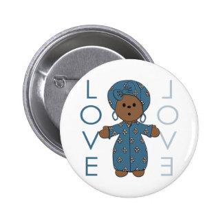 African Paperdoll 2 Inch Round Button