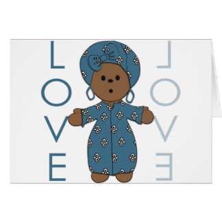 African Paperdoll Card