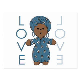 African Paperdoll Postcard