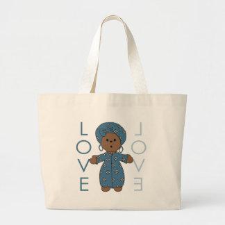 African Paperdoll Tote Bag