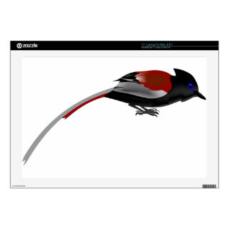 "African paradise flycatcher 17"" laptop skin"
