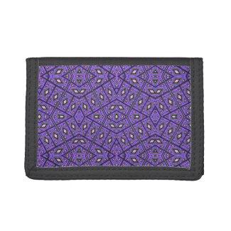 African pattern 1 - Vintage Violet Trifold Wallet
