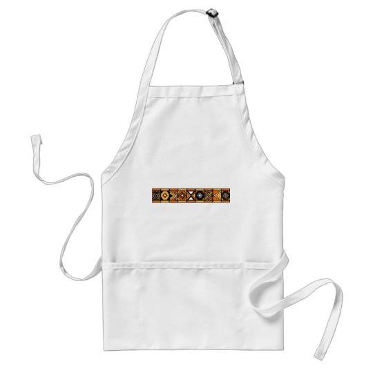 African pattern adult apron