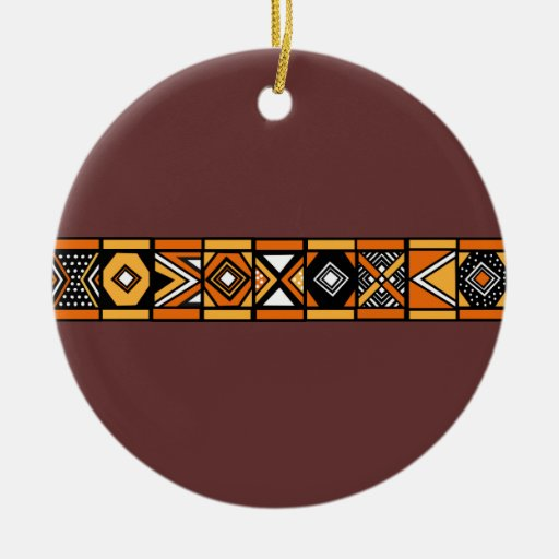 African pattern brown ornament