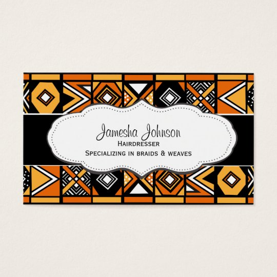 African pattern business cards zazzle african pattern business cards colourmoves Choice Image