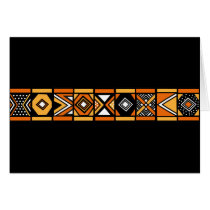 African pattern card
