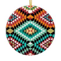 African Pattern Colourful Design Ceramic Ornament