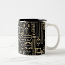 African Pattern Design Two-Tone Coffee Mug