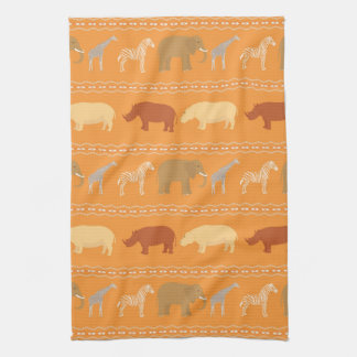 African pattern hand towel