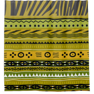African Pattern Mix Shower Curtain