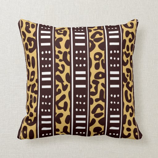 African Pattern Mix Throw Pillow Zazzle