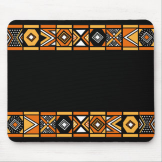 African pattern mouse pad