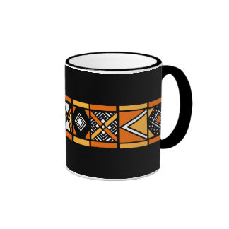 African pattern coffee mug