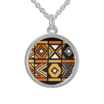 African pattern necklace pendant