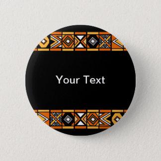 African pattern pinback button