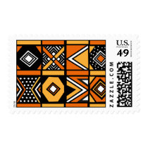 African pattern postage stamps
