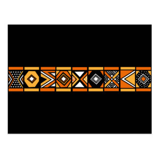African pattern postcard